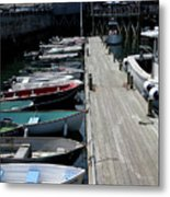 Boats In A Line Metal Print