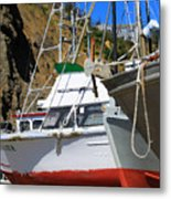 Boats In Drydock Metal Print