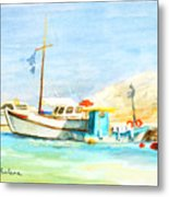 Azure Harbor Metal Print