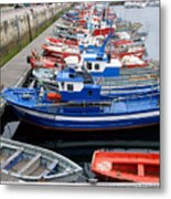 Boats In Norway Metal Print