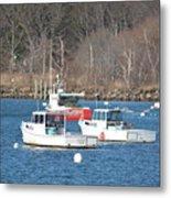 Boats In Rye Harbor Metal Print