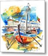 Boats In Tavira In Portugal 02 Metal Print