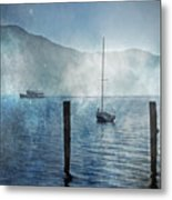 Boats In The Fog Metal Print by Joana Kruse