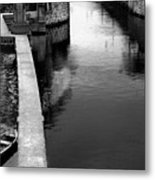 Boats In The Rain Metal Print