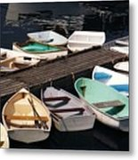 Boats In Waiting Metal Print