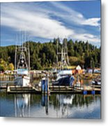 Boats In Winchester Bay Metal Print