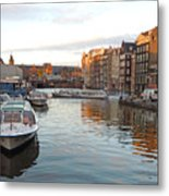 Boats Of Amsterdam Metal Print