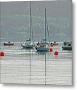 Boats On Carsington Water Metal Print