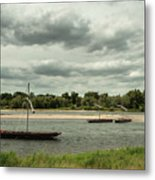 Boats On River Loire - France Metal Print