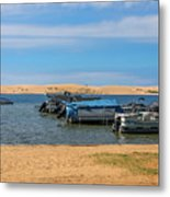 Boats On Silver Lake Michigan Metal Print