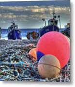 Boats On The Beach At Beer Metal Print