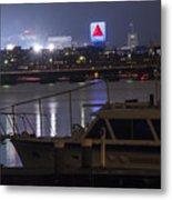Boats On The Charles River Citgo Sign Boston Massachusetts Metal Print