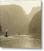 Boats On The River Tam Coc No1 Metal Print