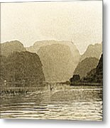Boats On The River Tam Coc No2 Metal Print