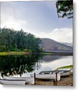 Boats On The Shore. Metal Print