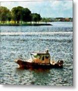 Boats - Police Boat Norfolk Va Metal Print