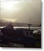 Boats, Portree, Isle Of Skye Metal Print