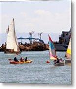 Boats Race Metal Print