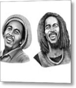 Bob And Bob Marley Metal Print