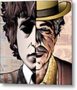 Bob Dylan - Man Vs. Myth Metal Print by Sam Kirk