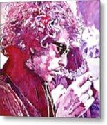 Bob Dylan Metal Print by David Lloyd Glover