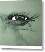 Bob Dylans Eye  Undestanding His Soul Metal Print