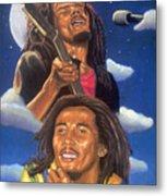 Bob Marley A Reflection Of  His Music Metal Print