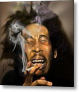 Bob Marley-burning Lights 3 Metal Print by Reggie Duffie