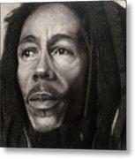 Bob Marley Drawing Metal Print