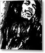 Bob Marley Silhouette   Metal Print