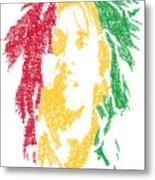 Bob Marley Typography  Metal Print by Jimi Bush