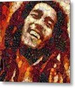 Bob Marley Vegged Out Metal Print