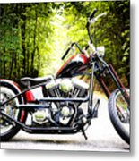 Bobber Harley Davidson Custom Motorcycle Metal Print