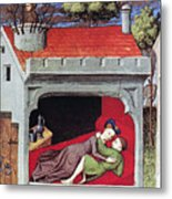 Boccaccio: Lovers, C1430 Metal Print