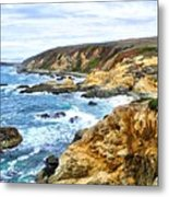 Bodega Bay Coastline Metal Print