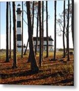 Bodie Island Light Through The Pines Metal Print