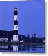 Bodie Island Lighthouse At Dusk - Fs000607 Metal Print