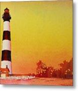 Bodie Island Lighthouse Sunset Metal Print