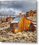 Bodie Stamp Mill, Sunrise With A Dusting Of Snow Metal Print