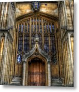Bodleian Library Door - Oxford Metal Print by Yhun Suarez