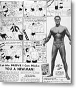 Body-building Ad, 1962 Metal Print by Granger