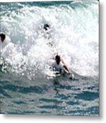 Body Surfing The Ocean Waves Metal Print
