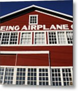 Boeing Airplane Hanger Number One Metal Print