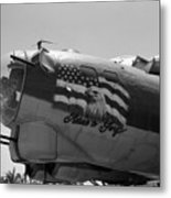 Boeing B-17g Flying Fortress Nose Art Metal Print