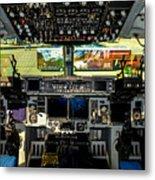 Boeing C-17 Globemaster IIi Cockpit Metal Print
