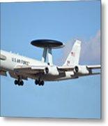 Boeing E-3b 71-1407 Sentry Phoenix Sky Harbor January 9 2015 Metal Print