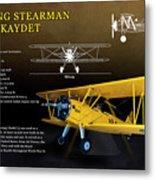 Boeing Stearman N2s Kaydet Metal Print