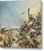 Boers Fighting Natives Metal Print