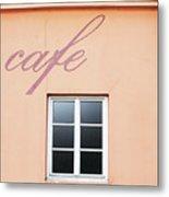 Bohemian Cafe- By Linda Woods Metal Print