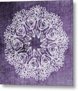 Boho Floral Mandala 2- Art By Linda Woods Metal Print
